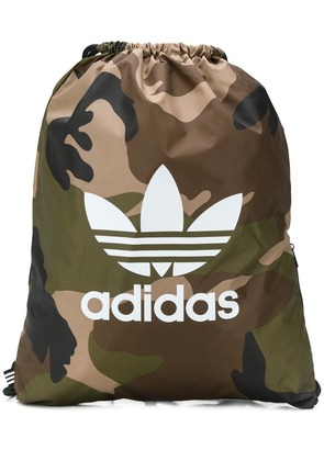 Adidas camouflage drawstring backpack - Green