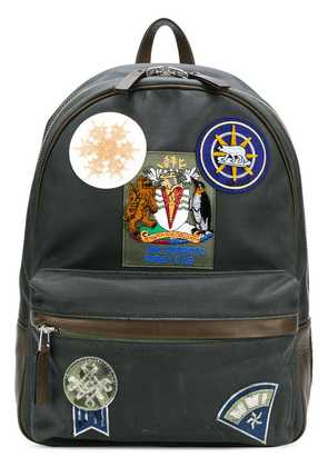Mr & Mrs Italy patch-appliquéd backpack - Grey