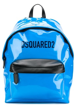 Dsquared2 patent leather backpack - Blue