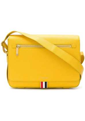 Thom Browne Pebbled Leather Reporter Bag - Yellow