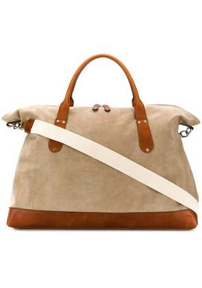 Eleventy colour block holdall - Neutrals