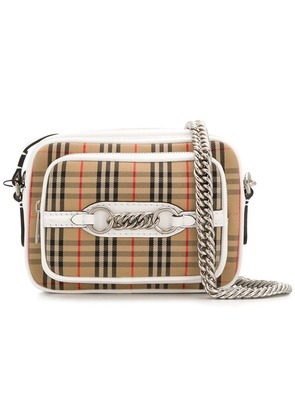 Burberry signature check crossbody bag - White