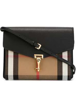 Burberry Small Leather and House Check crossbody bag - Black