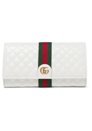 Gucci - Quilted Leather Wallet - White