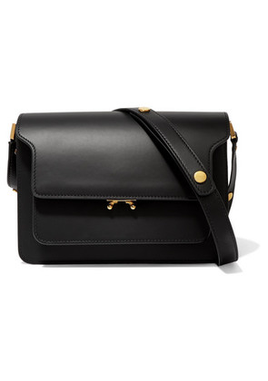 Marni - Trunk Medium Leather Shoulder Bag - Black