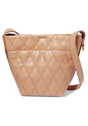 Givenchy - Gv Mini Quilted Leather Bucket Bag - Camel