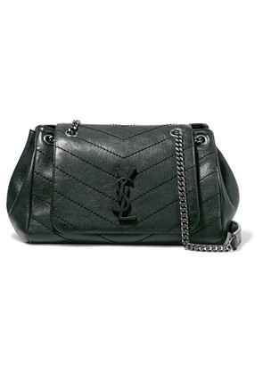 Saint Laurent - Nolita Medium Quilted Leather Shoulder Bag - Dark green