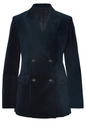 Joseph - Moore Double-breasted Cotton-blend Corduroy Blazer - Navy