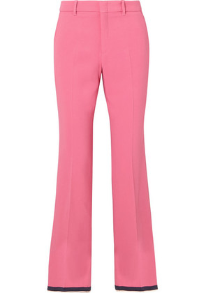 Gucci - Cropped Grosgrain-trimmed Cady Bootcut Pants - Pink
