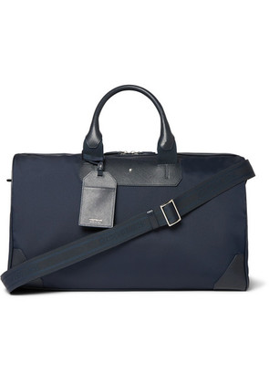 Montblanc - Sartorial Jet Cross-grain Leather-trimmed Shell Duffle Bag - Blue