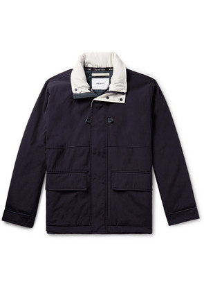 Norse Projects - Ystad Waterproof Nylon And Cotton-canvas Jacket - Navy
