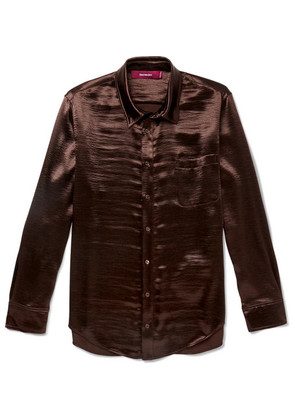 Sies Marjan - Sander Satin Shirt - Brown