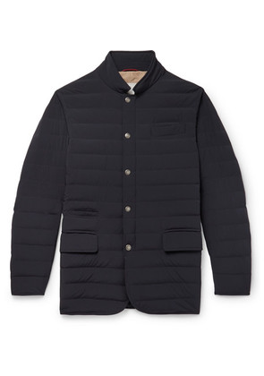Brunello Cucinelli - Slim-fit Quilted Shell Down Jacket - Navy