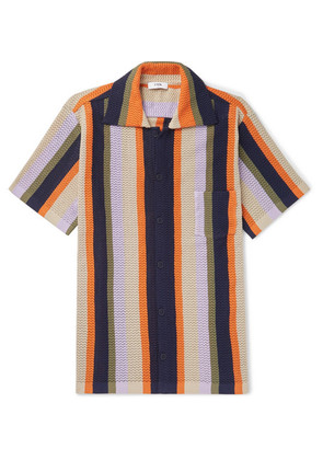 CMMN SWDN - Wes Striped Knitted Cotton Shirt - Multi