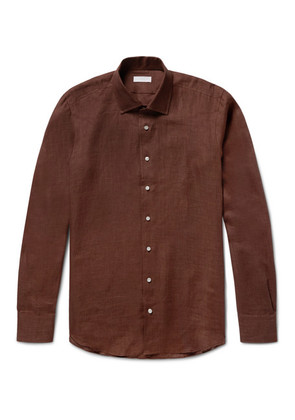P. Johnson - Slub Linen Shirt - Brown