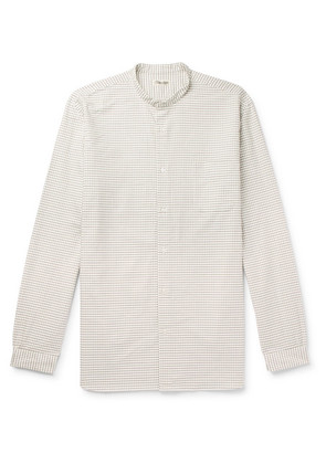 Camoshita - Grandad-collar Checked Cotton Shirt - Neutral