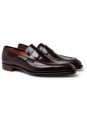 George Cleverley - George Horween Shell Cordovan Leather Penny Loafers - Burgundy