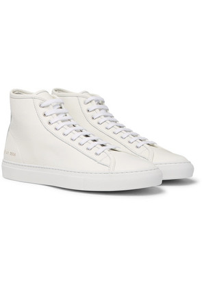 Common Projects - Tournament Full-grain Leather High-top Sneakers - White