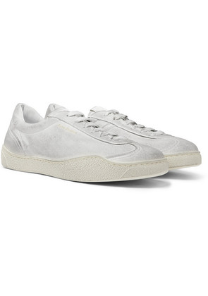 Acne Studios - Lars Tumbled Distressed Suede Sneakers - White