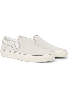 Common Projects - Suede Slip-on Sneakers - White