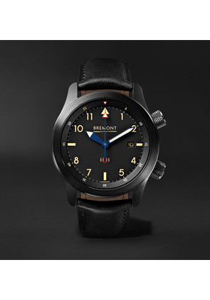 Bremont - U-2/51-jet Automatic 43mm Stainless Steel And Leather Watch - Black