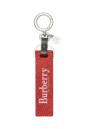 Burberry Logo Print Leather Key Ring - Red