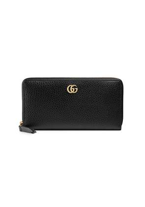 Gucci Leather zip around wallet - Black