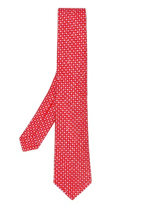 Kiton spot patterned tie - Red