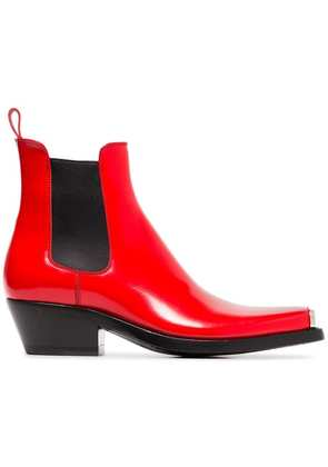 Calvin Klein 205W39nyc red claire 40 western leather boots