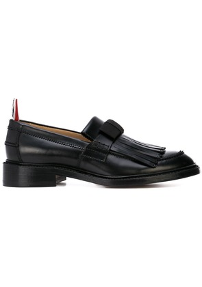 Thom Browne fringed bow loafers - Black