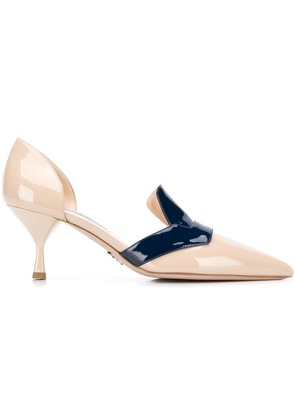 Prada heeled loafer pumps - Neutrals