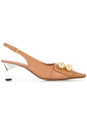 Marni slingback pumps - Brown