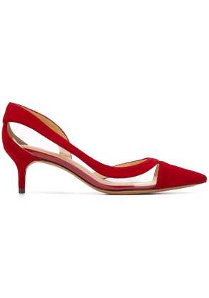Alexandre Birman Wavee kitten pumps - Red