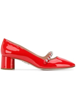 Miu Miu embellished Mary Jane pumps - Red