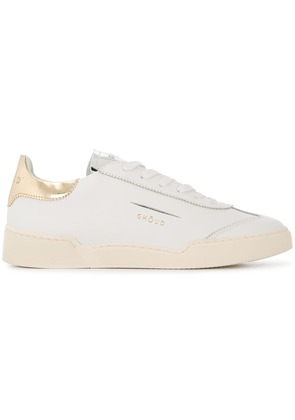 Ghoud flat lace-up sneakers - White
