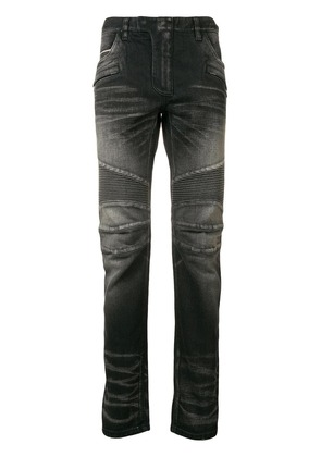 Balmain biker slim-fit jeans - Black