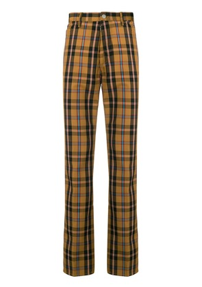 Maison Margiela checked print trousers - Brown