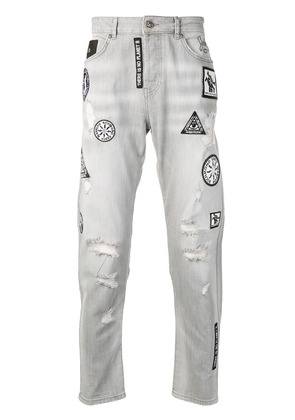 John Richmond patchwork jeans - Grey