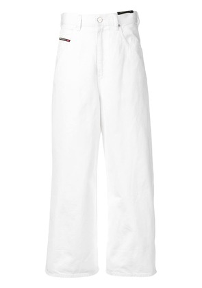 Diesel wide-legged cropped jeans - White