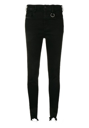 Diesel high ripped skinny jeans - Black