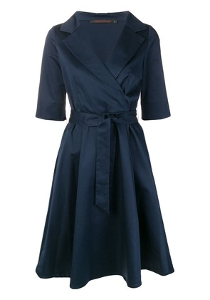 Incentive! Cashmere midi wrap dress - Blue