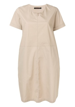 Incentive! Cashmere oversized v-neck dress - Neutrals