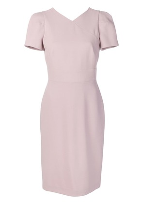 Giorgio Armani short V-neck dress - Pink