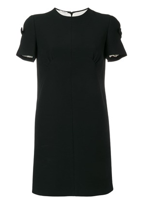 Miu Miu bow detail mini dress - Black