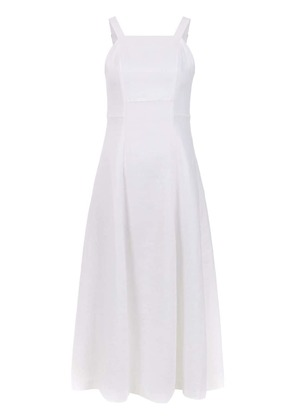 Osklen midi linen dress - White