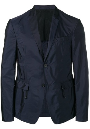 Prada fitted suit jacket - Blue