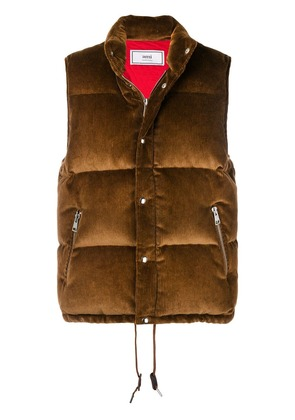 Ami Alexandre Mattiussi Quilted Down Vest - Brown