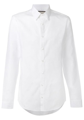 Gucci star and bee embroidered shirt - White