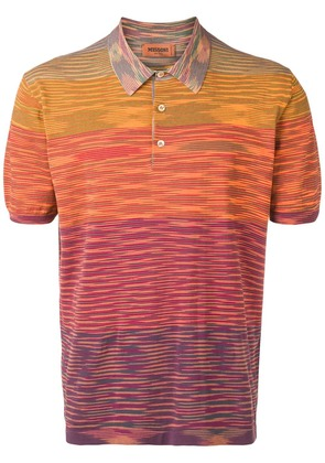 Missoni knitted striped polo shirt - Orange