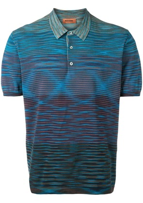 Missoni knitted polo shirt - Blue